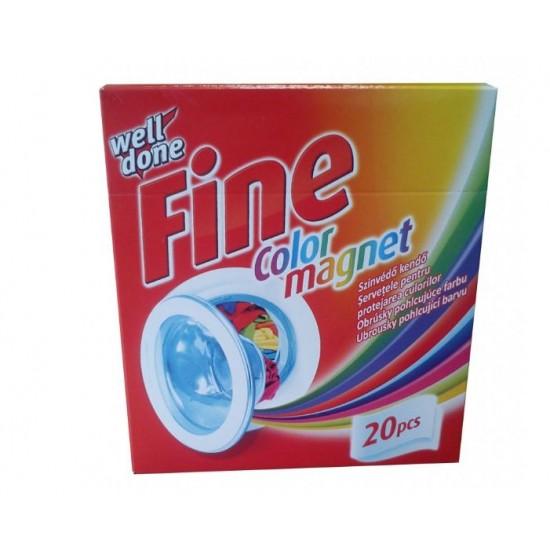 Welldone fine obrúsky pohlcujúce farbu do práčky 20ks