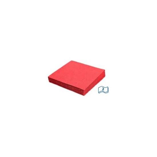 Servítky 33x33 cm 2vrstvové 50 ks červené