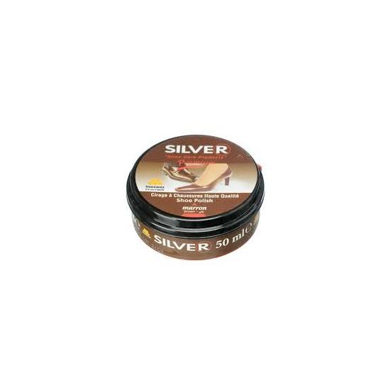 Silver krém na obuv 50ml hnedý