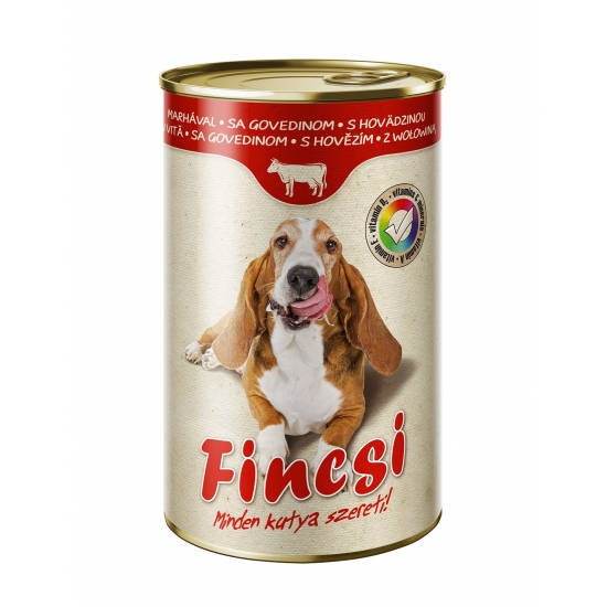 Fincsi konzerva pre psov 1240g Hovadzi