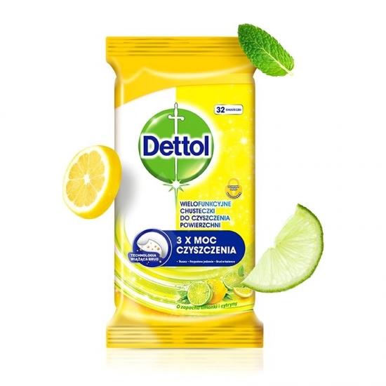 Dettol antibakteriálne obrusky 32ks citrus