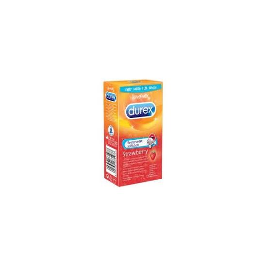 Durex kondómy 12ks strawberry
